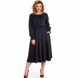 Платье 792 темно-синий Novita