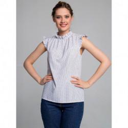 Блуза 0136-01-27-11 Сине-белый Sezoni