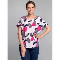 Блуза 0182-01-27-01 Серо-розовый Sezoni